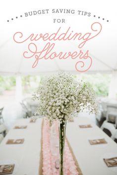 Budget Saving Tips for Wedding Flowers | The Budget Savvy Bride Good.