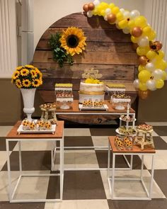 1 million+ Stunning Free Images to Use Anywhere Sunflower Party Themes, Sunflower Birthday Parties, Sunflower Decorations, Baby Shower Decorations For Boys, Birthday Party Decorations, Baby Shower Themes, 1st Birthday Party Themes, Shower Ideas, Table Decorations