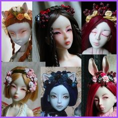 bjdcollectasy - how to make a long hair synthetic wig.