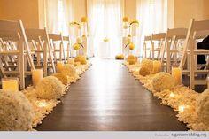 Ślubna dekoracja kościoła / sali na ślub cywilny