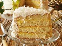 Lemon Cream Coconut Cake