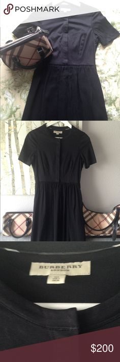 Burberry gorgeous black flowy casual dress ❤❤ Beautiful black Burberry dress. Worn once. No flaws; excellent condition. 💖💖🎉😍 Burberry Dresses