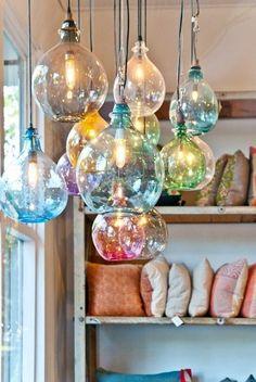 different color kitchen lights