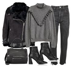 """""""Untitled #11275"""" by minimalmanhattan on Polyvore featuring Boohoo, Vetements, Topshop and Givenchy"""