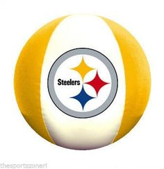"Pittsburgh Steelers 18"" Beach Ball #PittsburghSteelers Visit our website for more: www.thesportszoneri.com"