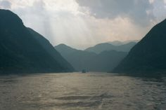 Cruising the Yangtze.