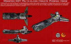 KDY Pelta-class frigate Phoenix Home ortho [New] by unusualsuspex.deviantart.com on @DeviantArt
