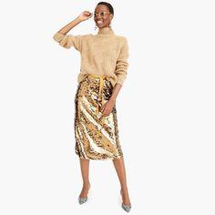 sequin midi skirt with tie - women's dresses Lace Skirt, Midi Skirt, Sequin Skirt, Work Fashion, Fashion Beauty, Fashion Tips, Women's Fashion, Classic Leather Jacket, Mom Style