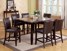 Crown Mark - Ferrara Ct. w/ Madrid Dining Set from National Furniture Liquidators, El Paso, Tx. (915)593-5200