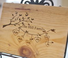 Personalized Cutting Board Family Names Custom by braggingbags