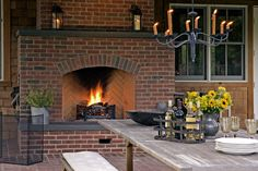 outdoor fireplace....my dream