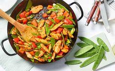 MAGGI Rezeptidee fuer Zuckerschoten Sweet Chili Chicken