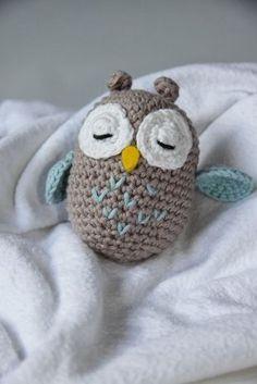 Baby Knitting Patterns Toys Crafting Fun with Hasekind: Instructions – Amigurumi Owl Baby Knitting Patterns, Crochet Patterns Amigurumi, Amigurumi Doll, Crochet Dolls, Afghan Patterns, Knitting Toys, Crochet Diy, Scarf Crochet, Owl