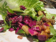 Purple Cabbage Slaw (3.5 stars)  -- added 1 minced shallot --