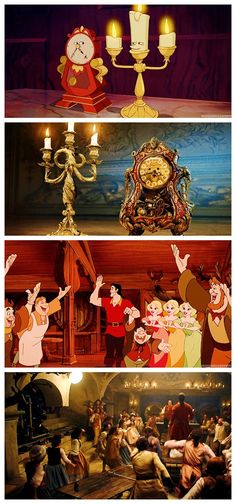 First look at Lumière, Cogsworth and Gaston's tavern in the live-action Beauty and the Beast