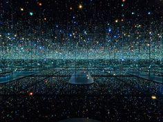 infinity mirrored room, Yayoi Kusama exhibit