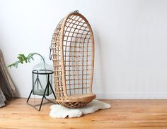 Hanging Rattan Egg Chair by GallivantingGirls on Etsy, $325.00 - awesome for kids room!