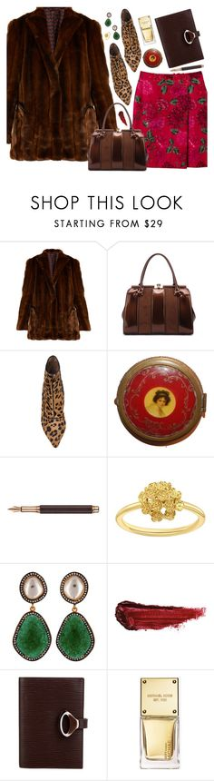 """""""Leopard Boots"""" by amalieknygberg ❤ liked on Polyvore featuring Blazé Milano, Keita Maruyama, MKF Collection, Tabitha Simmons, Caran d'Ache, London Road, Carousel Jewels, By Terry, Louis Vuitton and Michael Kors"""
