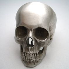 silver skull ring full by noformdesign on Etsy