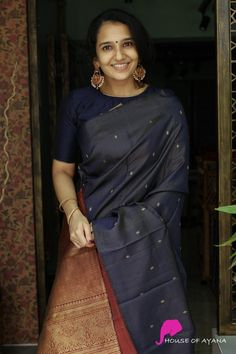 Silk Kurti Designs, Cotton Saree Designs, Pattu Saree Blouse Designs, Fancy Blouse Designs, Bridal Blouse Designs, Lehenga Saree Design, Sari, Saree Wearing Styles, Long Dress Fashion