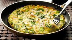 Open Smoked Haddock and Leek Omelette