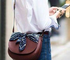 5 Accessories Everyone Should Have in Their Wardrobe - Mademoiselle O'Lantern Diy Bags Jeans, Diy Bags Purses, New Handbags, Hermes Handbags, Bandanas, Paisley, Head Scarf Tying, Head Scarf Styles, How To Wear Scarves