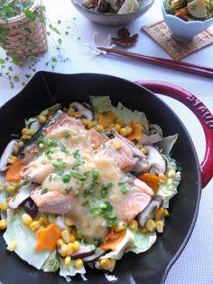鮭のちゃんちゃん焼き。 | 美肌レシピ