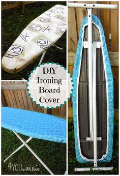 DIY ironing board cover - a sewing tutorial so you can make your ironing board look new again!