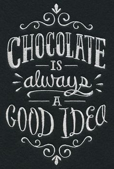Chocolate Is Always A Good Idea Tote Bag- Embroidered Tote-Canvas Tote Bag - Kreidetafel - Chalk Art Chalkboard Lettering, Chalkboard Designs, Chalkboard Drawings, Chalkboard Quotes, Chocolate Quotes, Chocolate Humor, Chocolate Coffee, Funny Aprons, Paper Embroidery