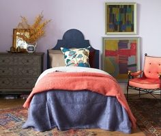 Love the picture placement--  http://www.apartmenttherapy.com/10-unusual-color-combinations-that-work-177934#