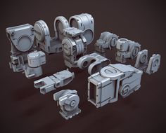 ArtStation - kit-bash, Nick Govacko structural elements: free kitbash models