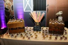 Honey and glow stick display