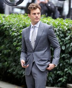Pin for Later: The Fifty Shades of Grey Reshoots Now Include Sexy Makeouts  Dornan resurfaced in Vancouver, British Columbia, Canada, for reshoots this week.