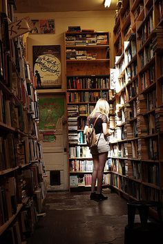 I love looking through bookstores like this one. Bookstores, libraries, they have so much in common.