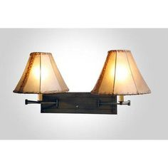 Steel Partners San Carlos Double Swing Arm Wall Lamp Finish: Architectural Bronze, Shade / Lens: Antique Rawhide