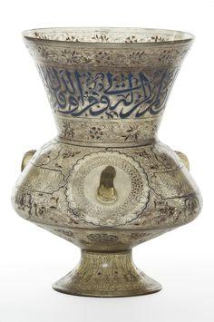 Lampe de mosquée, Egypte ou Syrie, vers 1310, verre émaillé et doré. À la découverte de l'Orient. L'universalité des collections