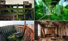Images of abandoned buildings capture a post-apocalyptic America.