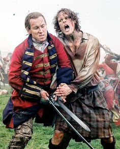Tobias Menzies and Sam Heughan as Black Jack Randall and Jamie Fraser | Outlander Season 3 | Entertainment Weekly