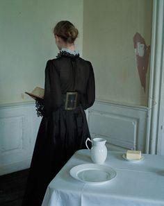 Amalie & Cecilie Moosgaard, an homage to Vilhelm Hammershøi, by Tim Walker. Copenhagen, Denmark W Magazine December 2016