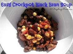 Easy Crockpot Black Bean Soup! Simple ingredients and super healthy for you! #cleaneating