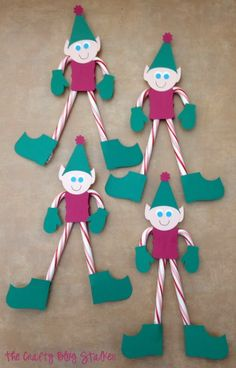 Candy Cane Elves are perfect for friends, coworkers, and kids love them! Make them to hand on the Christmas tree or to give as small handmade gifts.
