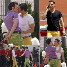 Chris Colfer and Darren Criss Start Glee