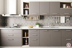 Innovative & New Kitchen Cabinet Design: Modular Kitchen - Furniture Ideas New Kitchen Designs, Kitchen Room Design, Kitchen Cabinet Design, Modern Kitchen Design, Home Decor Kitchen, Interior Design Kitchen, Kitchen Furniture, Kitchen Ideas, Furniture Stores