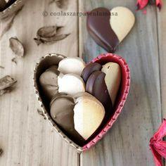 Galletas corazón (Heart Cookies) {by Paula, Con las Zarpas en la Masa}