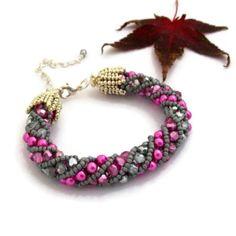 Pink Russian Spiral Bracelet - £28