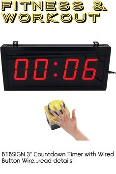 BTBSIGN 3'' Countdown Timer with Wired Button Wireless Remote Drone Racing ... (This is an affiliate link) #fitnessaccessories