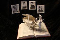 The Great Composer book sculpture. [by Deviant Art artist *wetcanvas]