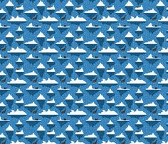 Iceberg arctic fabric by crafty_narwhal on Spoonflower - custom fabric Custom Fabric, Arctic, Spoonflower, Gift Wrapping, Crafty, Wallpaper, Prints, Pattern, Design