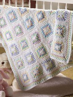 Grandma's Double Delight Crochet Afgans, Baby Afghan Crochet, Manta Crochet, Baby Afghans, Baby Blankets, Crochet Blankets, Afghan Crochet Patterns, Crochet Squares, Crochet Motif