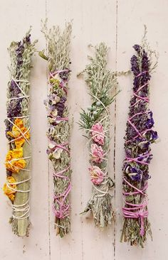 sage and floral smudge sticks / faded west.com
